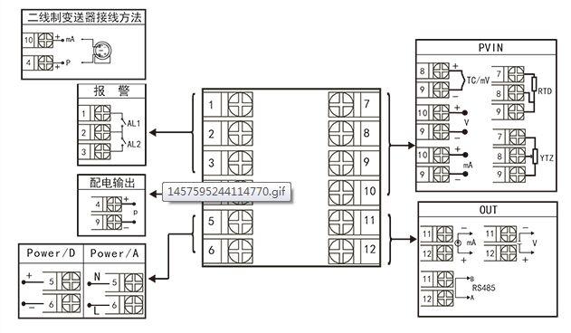 规格尺寸为h型接线图